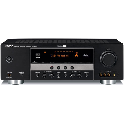 yamaha rx v363bl 5 1 channel home theater receiver rx v363bl b h rh bhphotovideo com Audio Receiver for Yamaha RX V3.75 Manual Yamaha RX- V361