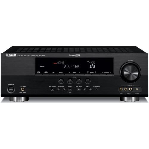 Yamaha rx v665bl 7 2 channel home theater receiver rx for Yamaha 7 2 home theatre system
