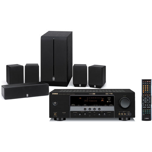 yamaha yht 280bl 5 1 channel home theater system yht 280bl b h. Black Bedroom Furniture Sets. Home Design Ideas