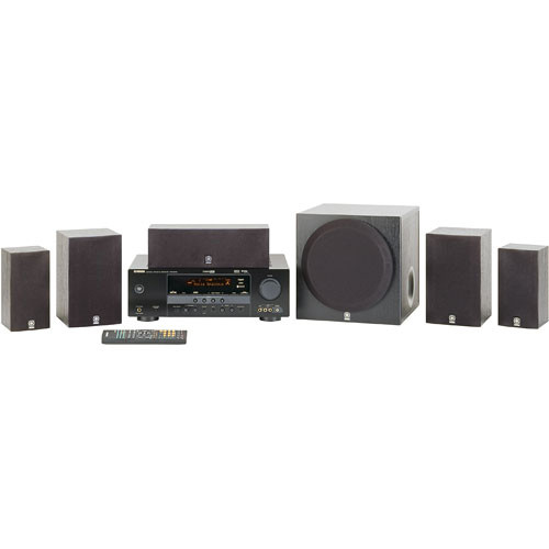 Yamaha yht 380bl 5 1 channel home theater system yht 380bl b h for Yamaha home stereo systems