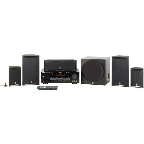 Yamaha yht 580bl 5 1 channel home theater system yht 580bl b h for Yamaha home stereo systems