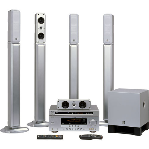 yamaha yht 685sl 5 1 channel home theater system yht 685sl b h. Black Bedroom Furniture Sets. Home Design Ideas