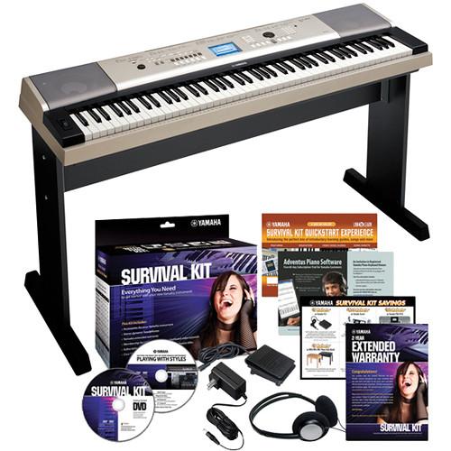 Yamaha ypg 535 88 key portable keyboard basics kit b h photo for Yamaha ypg 535