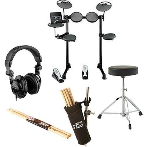 Yamaha dtx400k electronic drum kit value bundle kit b h photo for Yamaha dtx400k accessories