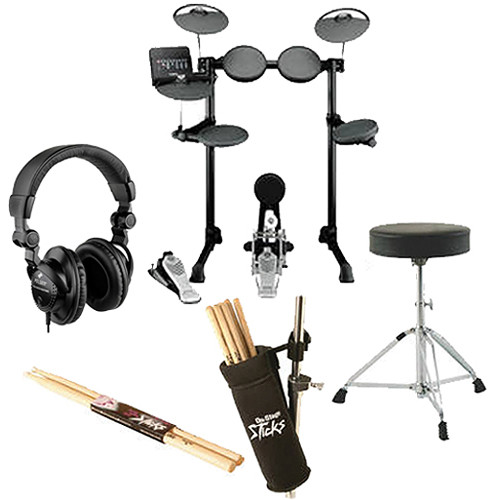 Yamaha dtx450k electronic drum kit value bundle kit b h photo for Yamaha dtx450k electronic drum set