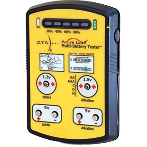 Multi Battery Tester : Zts mini mbt r multi battery tester b h