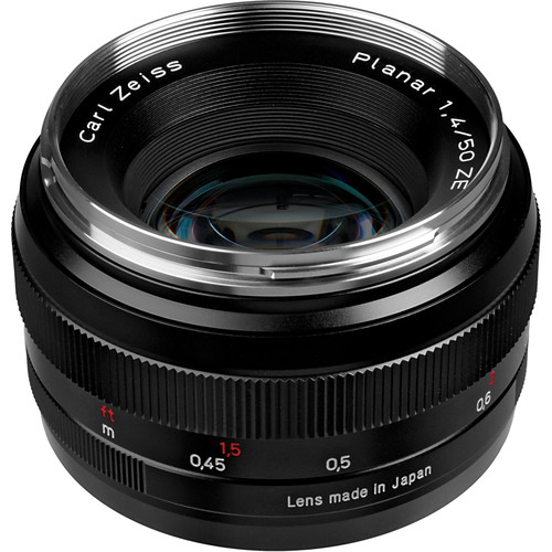 Zeiss Planar T 50mm F 1 4 Ze Lens For Canon Ef 1677 817 B Amp H