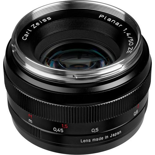 zeiss normal 50mm f  1 4 ze planar t  manual focus lens Canon Rebel Camera Manual Canon Film Camera