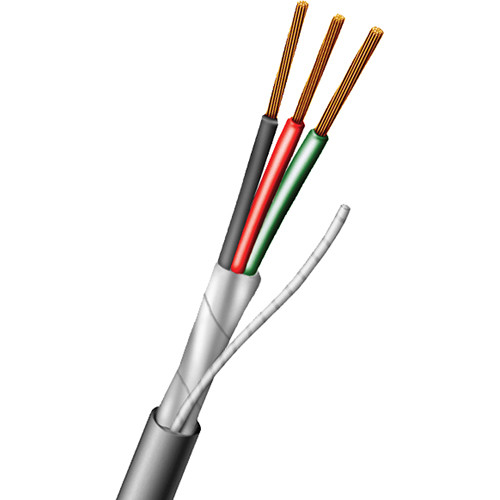 3 Wire Shielded Cable : Aiphone three conductor shielded wire  c b h