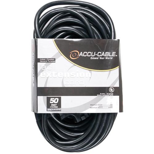 American DJ Accu-Cable 3-Wire 12-Gauge Edison AC EC123-3FER50