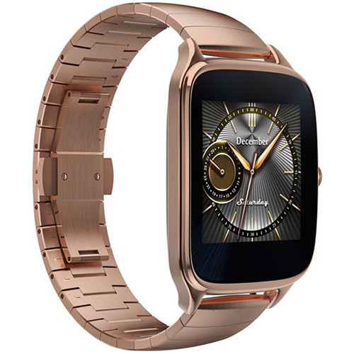 """ASUS ZenWatch 2 1.63"""" Smartwatch with HyperCharge (Gold Case, Gold ..."""