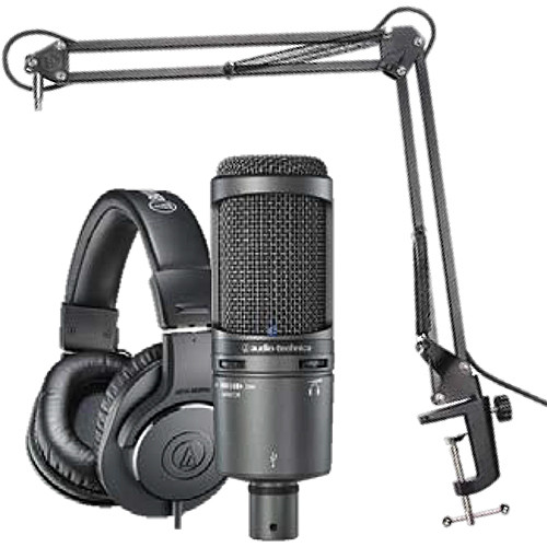 audio technica at2020usb microphone pack at2020usb pk b h photo. Black Bedroom Furniture Sets. Home Design Ideas