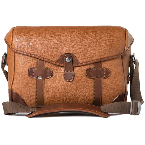 Barber Small Messenger Pageboy Camera Bag Brown Grained Leather