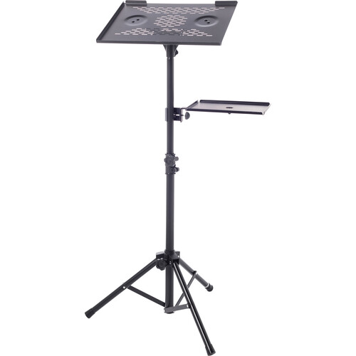 Bespeco lps100 adjustable laptop or projector stand lps100 b h for Stand pliant