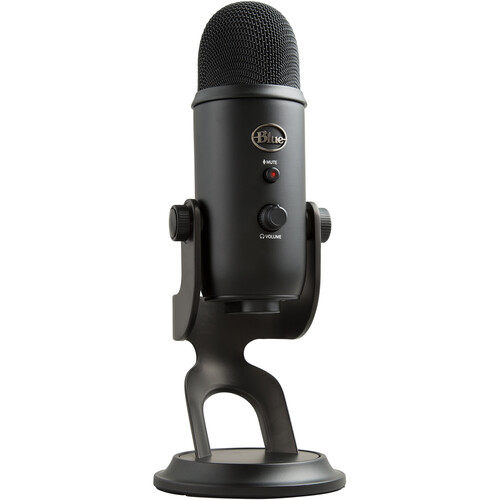 Blue Yeti USB Microphone (Blackout) 988-000100 B&H Photo Video