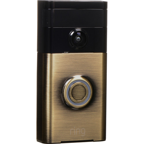 ring ring video doorbell antique brass 88rg003fc000 b h. Black Bedroom Furniture Sets. Home Design Ideas