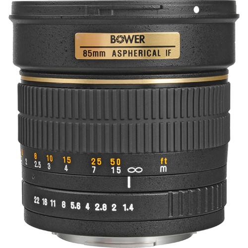 used bower 85mm f 1 4 manual focus telephoto lens sly85c b h rh bhphotovideo com Canon EOS Lens Compatibility Chart canon eos manual focus lenses