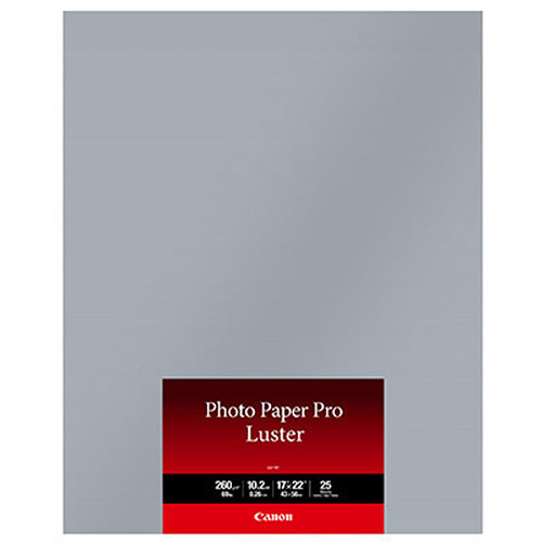 Canon Photo Paper Pro Luster 17 X 22 25 Sheets 6211b025
