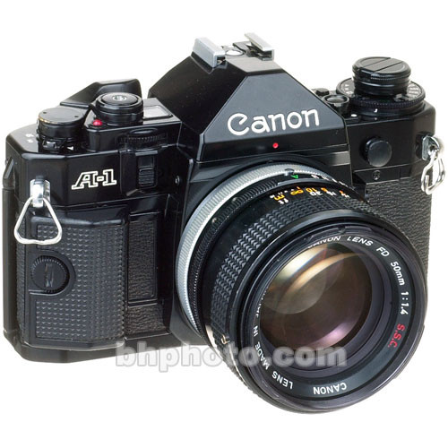 used canon a 1 35mm slr manual focus camera with 50mm f  1 4 sc canon cameras manual focus Canon Film Camera