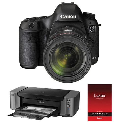 Canon EOS 5D Mark III DSLR Camera Kit with EF 24-70mm f/4L IS