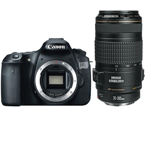 canon eos 60d dslr camera with 70 300mm lens kit b h photo video. Black Bedroom Furniture Sets. Home Design Ideas