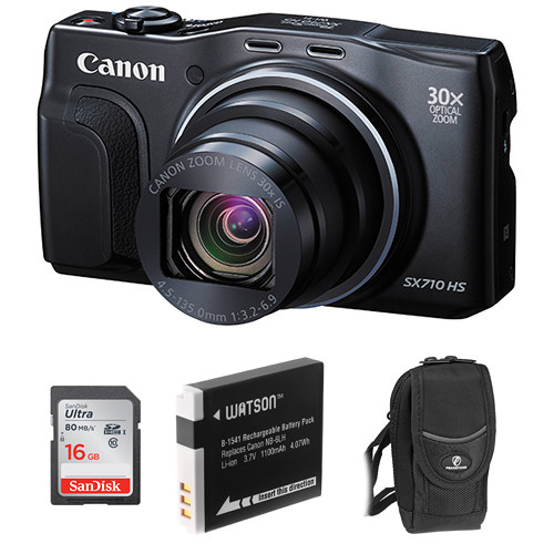 Canon Canon Powershot Sx710 Hs Digital Camera 16gb Memory Card - Canon powershot sx710 hs digital camera basic kit b amp h photo