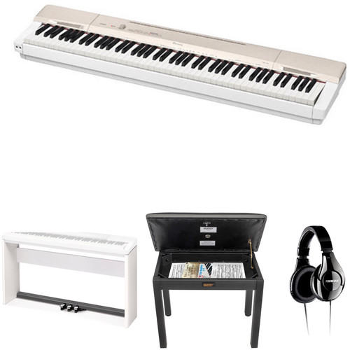 casio px 160 privia 88 key digital piano with stand bench b h. Black Bedroom Furniture Sets. Home Design Ideas