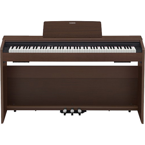 casio px 870br privia 88 key digital piano brown px 870bn b h. Black Bedroom Furniture Sets. Home Design Ideas