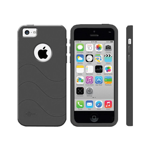 iphone 5c black cellsafe silicone for iphone 5c black csip5c bk b amp h 11080