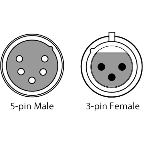 Chauvet Dj 3 Pin Female To 5 Pin Male Dmx Cable 6
