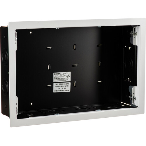 Chief PAC525FW In Wall Storage Box With Flange (White)