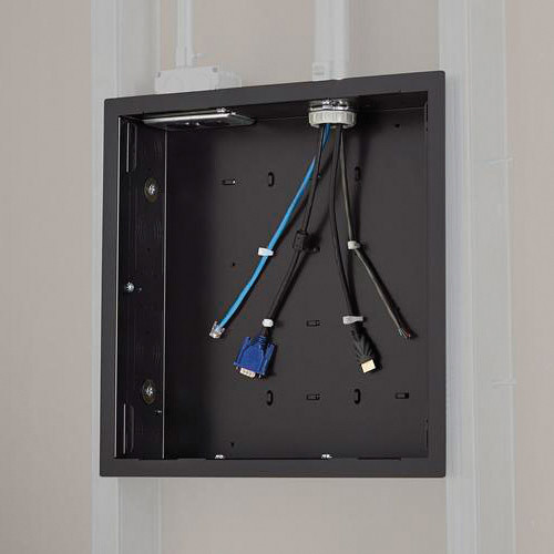 Chief Pac526f In Wall Storage Box With Flange Black Pac526f