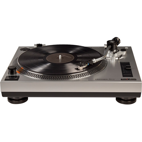 crosley radio c100a turntable (silver) c100a si b\u0026h photo videocrosley radio c100a turntable (silver)