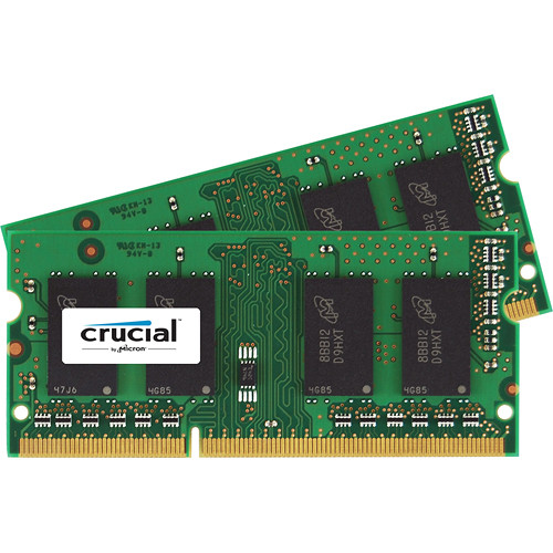 Crucial 8gb Ddr3l 1600 Mhz Sodimm Memory Ct2kit51264bf160bj B H