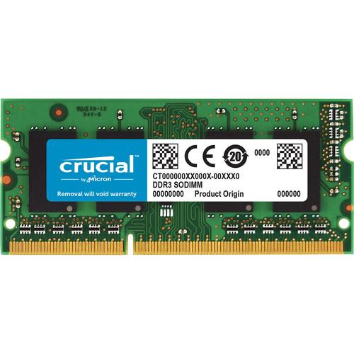 Crucial 8gb 204 Pin Sodimm Ddr3 Pc3 10600 Memory