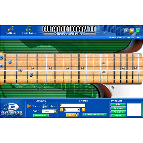 D\'Accord Music Software Guitar Chord Dictionary 3.0 GUITARCHORD