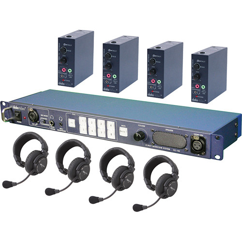 Datavideo Itc 100 Intercom System Combo Product Itc100hp1k B Amp H