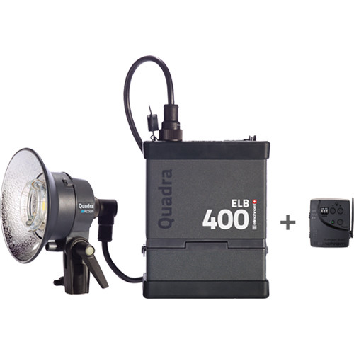 Elinchrom Frx 400 Studio Lighting Kit: Elinchrom Quadra ELB 400 One Action Head To Go Kit EL10412