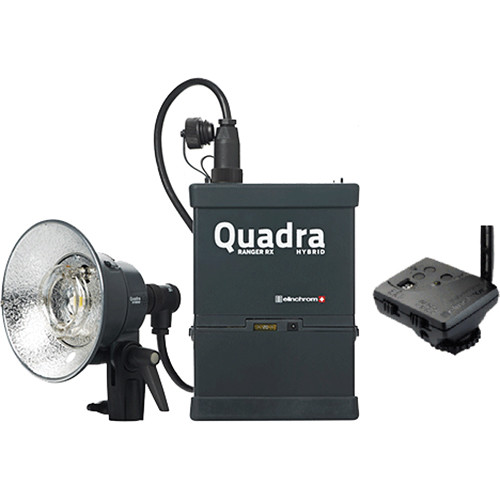 Elinchrom 500 Studio Lighting Kit: Elinchrom Quadra Living Light Kit With Lead Battery, S