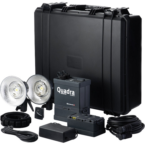 Elinchrom 500 Studio Lighting Kit: Elinchrom Ranger Quadra Hybrid RX Lead-Gel Battery EL 10405.1