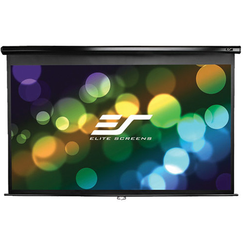 Elite Screens 114 Manual Series Projector Screen Black Casing