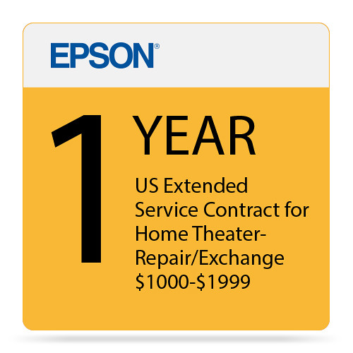 Epson 1 Year US Extended Service Contract For Home EPPSNPHTRF1
