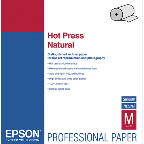 Epson Hot Press Natural Smooth Matte Archival Inkjet Paper B Amp H