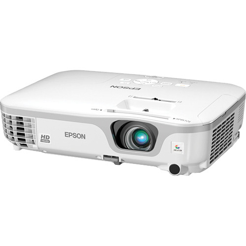 Hd Projector Full Color 720p 2400 Lumens Digital Tv Single: Epson PowerLite Home Cinema 707 720p 3LCD Projector V11H475220