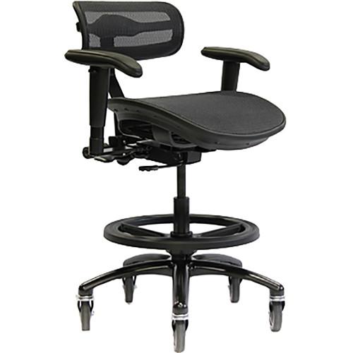 ErgoLab Stealth Pro Chair For Audio U0026 Lighting Engineer (Black, Large Seat)