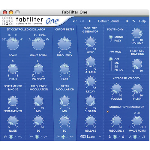 Fabfilter Releases Fabfilter One 301 Update For Mac