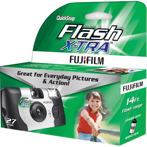 Fujifilm QuickSnap Flash X-TRA 800 Disposable Camera 7037109 B&H