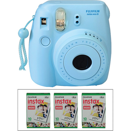 fujifilm instax mini 8 instant film camera and instant color b h. Black Bedroom Furniture Sets. Home Design Ideas