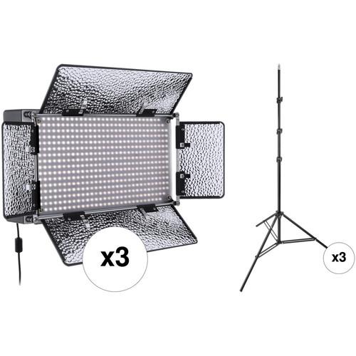 Daylight Balanced Led Studio Light: Genaray SpectroLED Studio 500 Daylight LED Three SP-S-500D-3KI