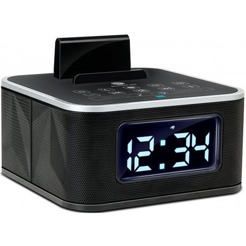 gogroove bluesync rst alarm clock bluetooth ggbsrst100bkus b h. Black Bedroom Furniture Sets. Home Design Ideas